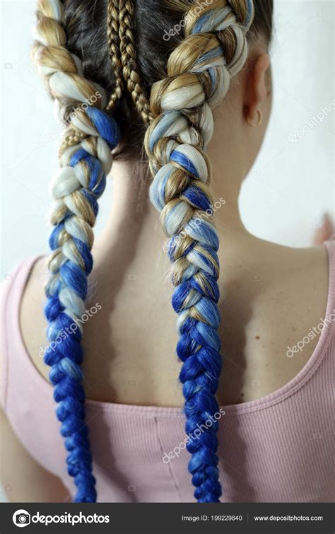 two colored hair two braids colored hair boxing braids work wizard
