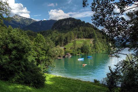 desktop wallpapers austria wolfgangsee nature lake