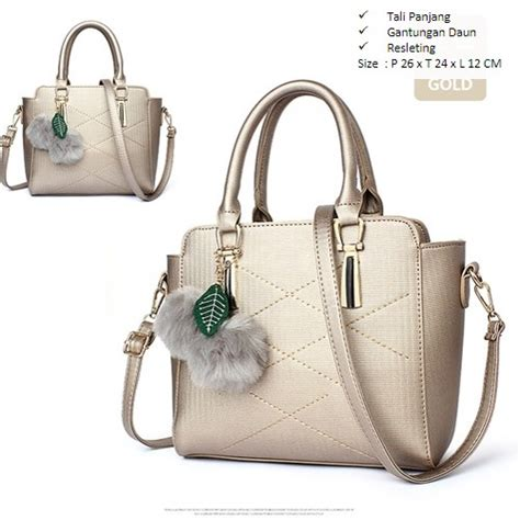 80518 Gold Pu Tas Import Tas Fashion Tas Batam High Quality jual b930 gold tas import bonus gantungan grosirimpor