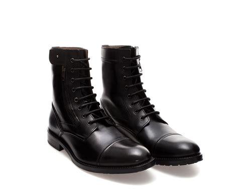 zara boots mens zara combat boot in black for lyst