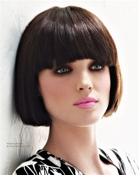 hairstyles bob cuts with fringe hairstyles for short hair with full fringe