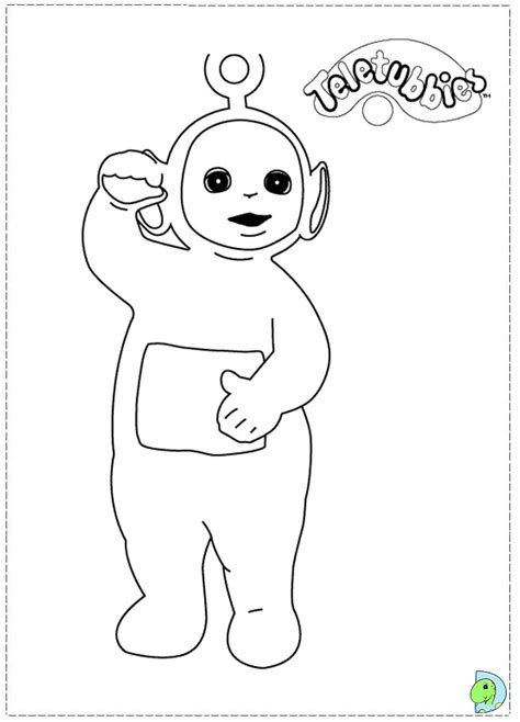 Coloring Teletubbies Laa Laa Coloring Pages Teletubbies Coloring Page