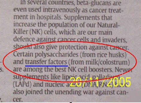 Suplemen Transfer Factor what are transfer factors new trends fewer breast