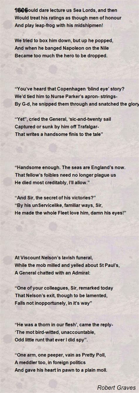 1805 poem by robert graves poem hunter