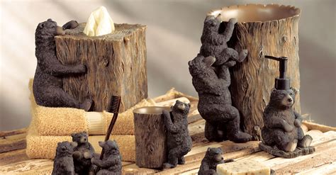 bear themed home decor rustic hardware and bathroom accessories black forest dcor