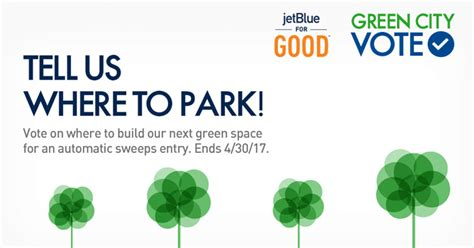 Jet Blue Sweepstakes - tell jetblue where to park for a chance to win a vacation package