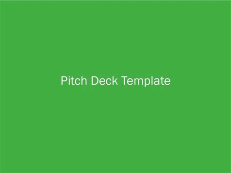 pitch deck template how to make a killer deck with this pitch deck template
