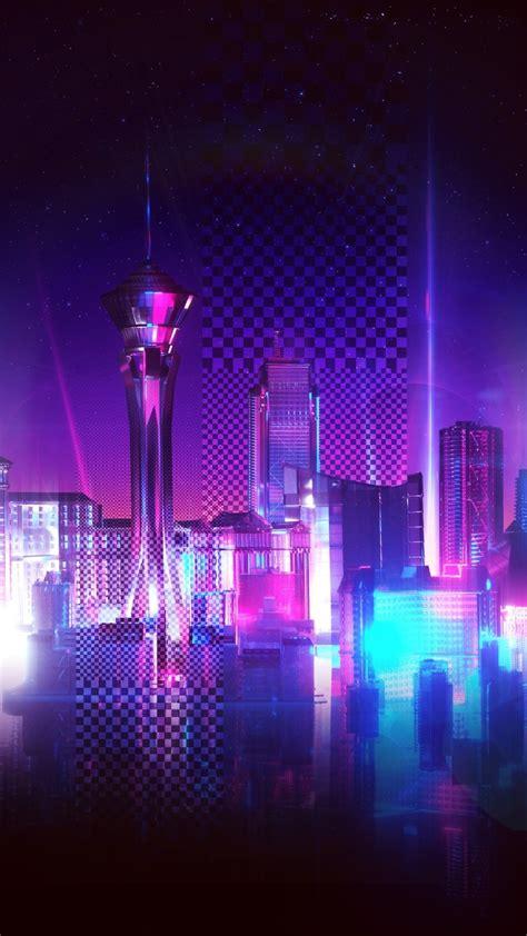 neon city purple racing phone wallpaper wallpapers  tech