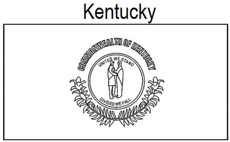 Geography Blog Kentucky State Flag Coloring Page Kentucky State Flag Coloring Page