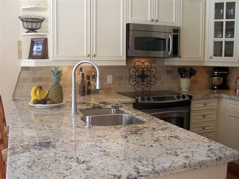 15 Best Pictures Of White Kitchens With Granite Granite Kitchen Countertop