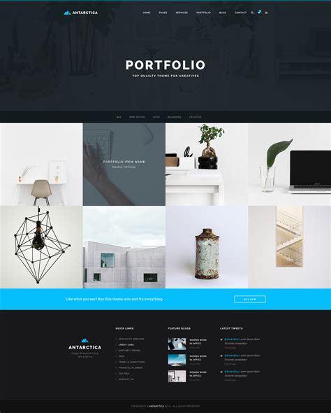 business portfolio template antarctica business portfolio html5 template by