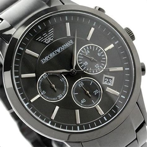 buy emporio armani chronograph black mens ar2453
