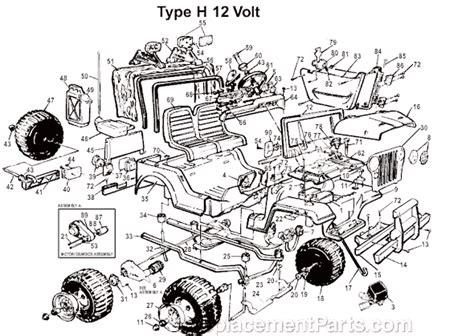 power wheels jeep safari power wheels 76229 86250 parts list and diagram