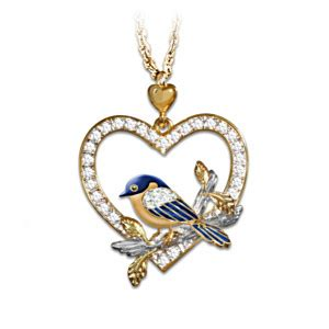 bluebird pendant necklace gift of nature