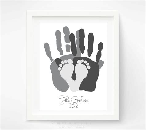 heartache for family who discover personalized family portrait handprint footprint family