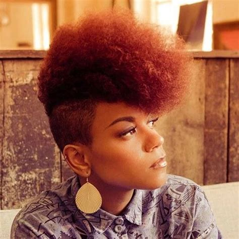 mohawk with shaved hairstyle for black women jazzy mohawk hairstyles for black women hairstyles 2017