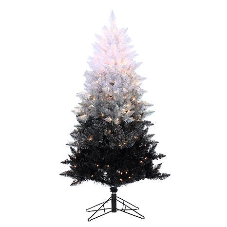 sterling 5 vintage black ombre lighted christmas tree