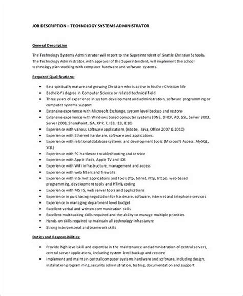 Systems Administrator Sle Resume by System Administrator Resumes Cake Ideas 28 Images System Administrator Resume Format Attach