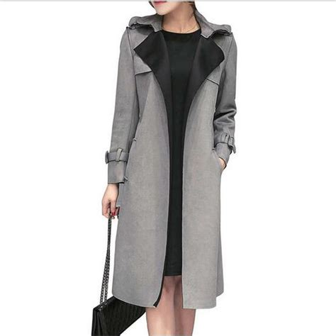 2016 New Autumn And Winter - 2016 new fashion autumn and winter faux suede trench