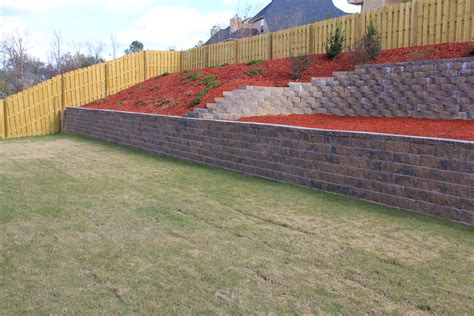 retaining wall installation in augusta ga landscaping