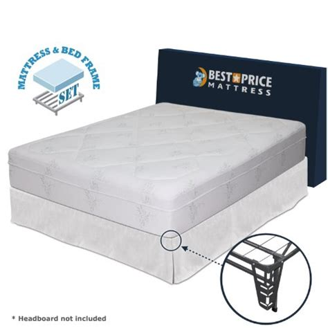 12 quot memory foam mattress bed frame set no box