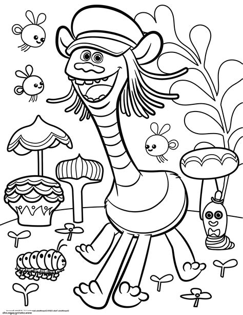 coloring page coloring pages of trolls coloring pages