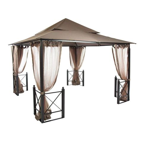 hton bay pergola replacement canopy hton bay 12 ft x 12 ft harbor gazebo gfs01250a the home depot