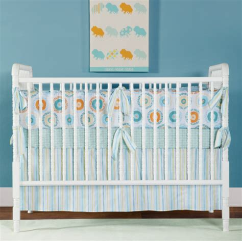 Annette Tatum S New Little House Collection Bohemian Orange And Blue Crib Bedding