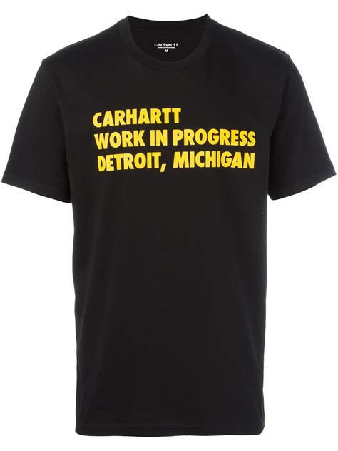 Carhartt Work In Progress carhartt work in progress t shirt in black for lyst