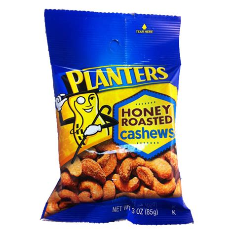 Planters Honey Roasted Cashews 12ct Nuts Seeds Planters Honey Roasted Cashews