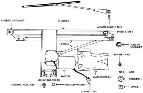 repair guides windshield wipers windshield wiper motor and linkage autozone com repair guides windshield wipers windshield wiper motor linkage and bracket autozone com