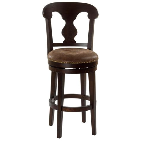 home decorators collection 30 in red cushioned swivel bar home decorators collection 30 in dark brown cushioned bar