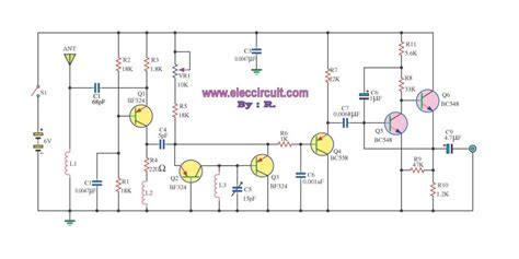 fm radio receiver circuit diagram pdf pg1n s ham radio site transistors bf serie bf324