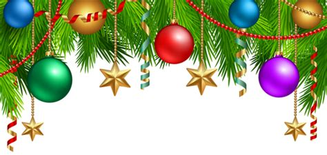 christmas deco branches  ornaments png clip art