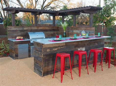 backyard table simple diy outdoor bar tips to build for your house exterior