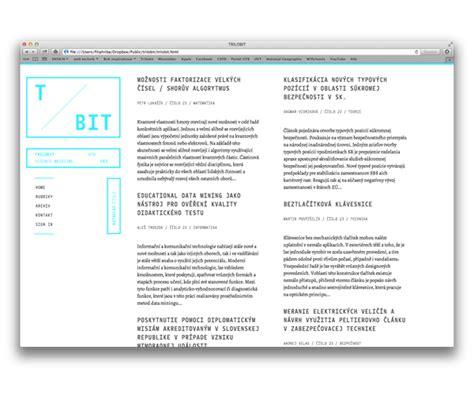menu layout science trilobit electronic science magazine on web design served