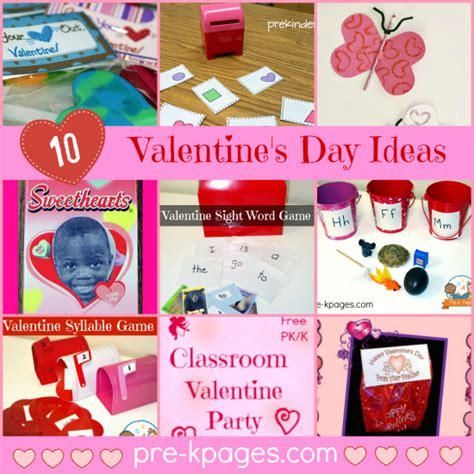 valentines day kindergarten for preschoolers free