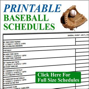baseball schedule template free free football picks las vegas odds printable