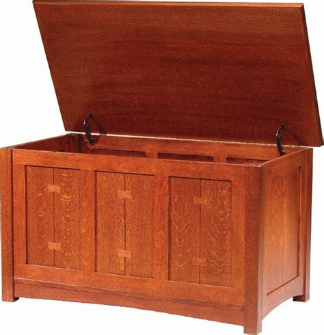 amish post mission blanket chest