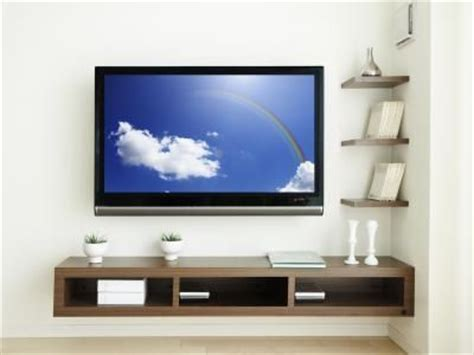 Tv On Floating Shelf by 25 Best Ideas About Corner Tv Wall Mount On