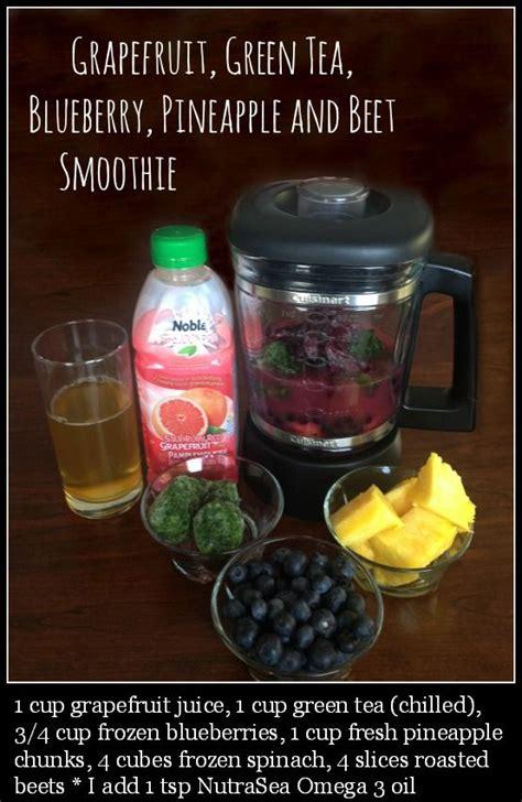 Blueberry Green Tea Detox Smoothie by Grapefruit Green Tea Blueberry Pineapple Beet