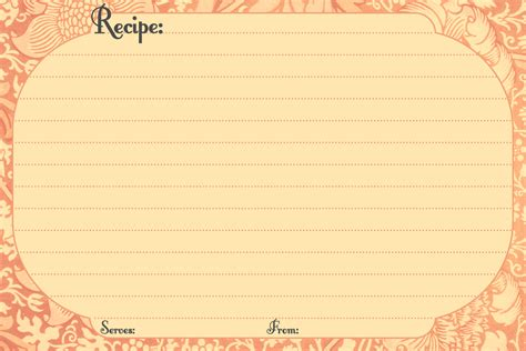 free digital card templates free digital recipe card templates printable recipe