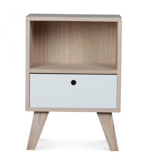 nightstand height bedside table with 1 drawer height 46cm