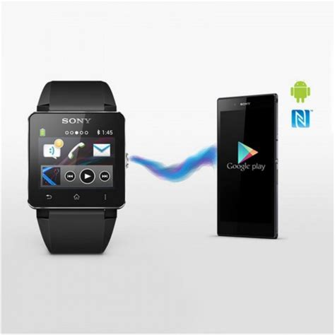 Sony Smartwatch Sw2 Rubber Wristband sony sw2 smartwatch 2 bluetooth water resistant android black silicon wristband ebay