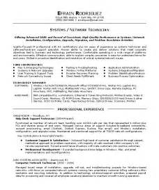 Tech Resume Templates by Network Technician Resume Sle Exle