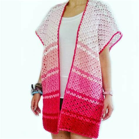 pattern for beach kimono set free my gypsy soul a crochet craft blog pink ombre