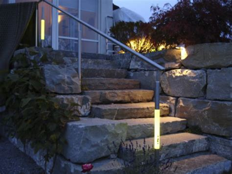 beleuchtung treppenstufen aussen beleuchteter handlauf au 223 en led acrylstab beleuchtung