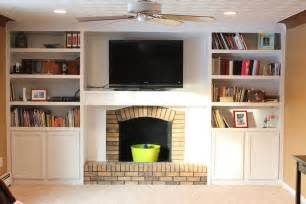 Family Room Bookshelves - remodelaholic fireplace remodel with built in bookshelves
