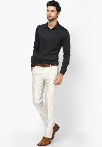 Celana Kolor Casual Standar what colour trousers go well with a black t shirt or