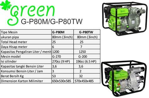 Pompa Air Untuk Pertanian harga jual green g p80tw pompa air irigasi